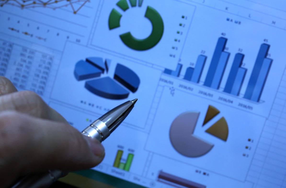 imagem em detalhe de gráficos de análise